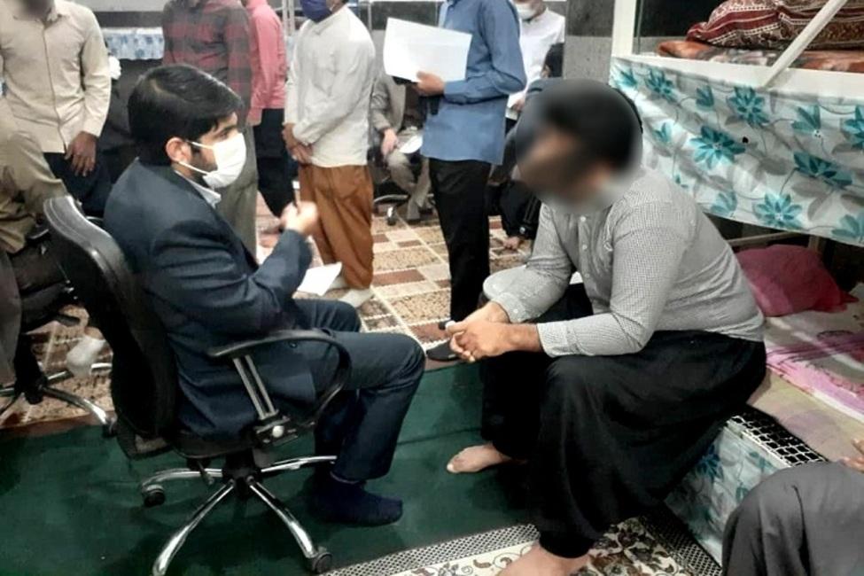 بازدید سرپرست حوزه قضایی جازموریان از زندان کهنوج