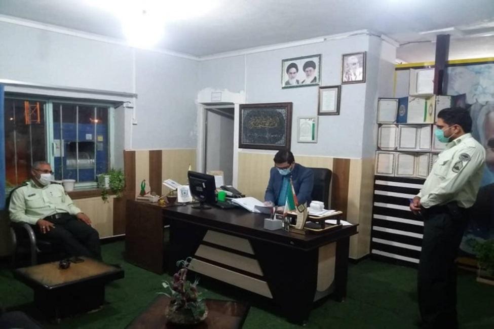 دادرس شعبه چهارم حوزه قضایی ماهان از مراجع انتظامی بازدید کرد