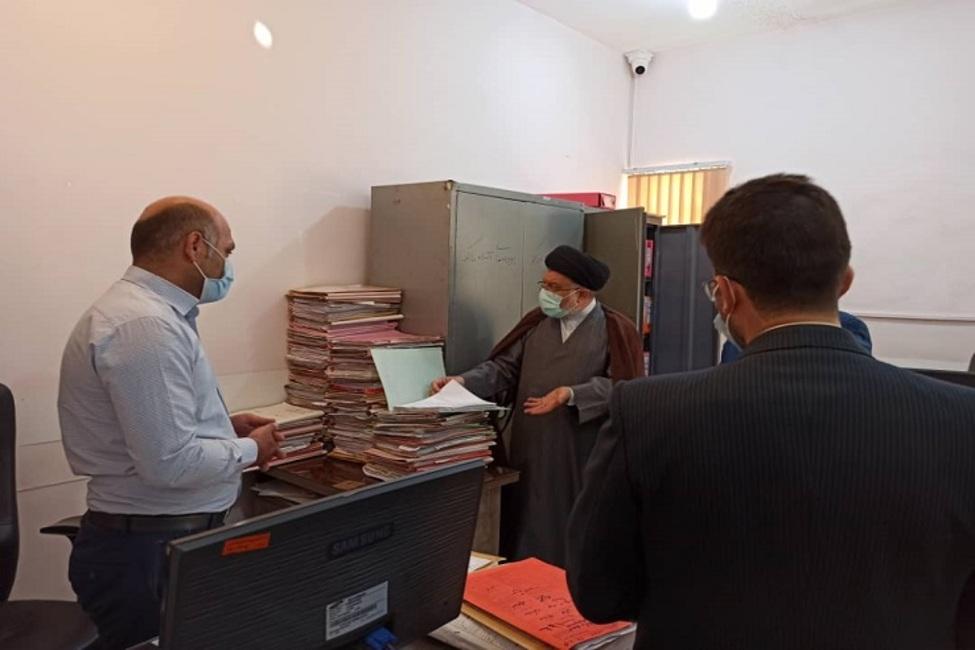 بازدید از پیش اعلام نشده رئیس کل دادگستری استان فارس از حوزه قضایی سپیدان
