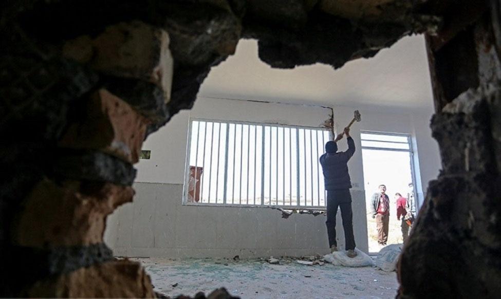 تخریب یک واحد ویلایی غیرمجاز در لاریجان
