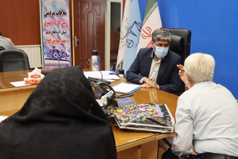 ملاقات مردمی رئیس کل دادگستری آذربایجان غربی با بیش از ۷۰ نفر از مراجعان