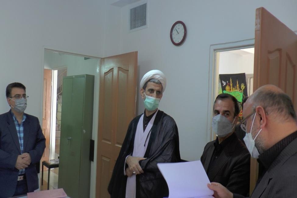 بازدید رئیس کل دادگستری خراسان شمالی از حوزههای قضایی شیروان و سرحد