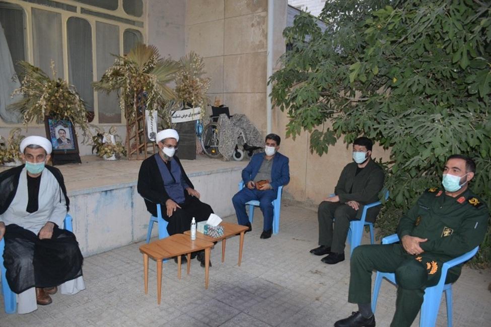 دیدار رئیس کل دادگستری خراسان شمالی با خانواده معزز شهید ابوالفضل پور طیبی در بجنورد