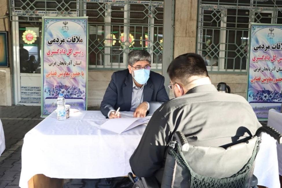 ملاقات مردمی ۲۲۰ نفر از مراجعان با رئیس کل دادگستری آذربایجان غربی