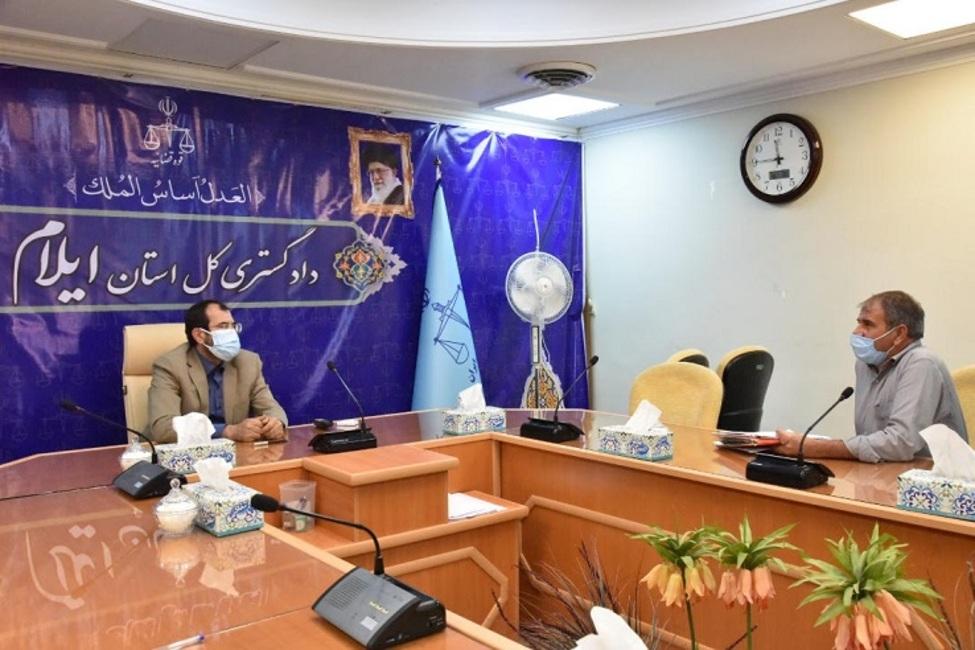 دیدار مردمی رئیس کل دادگستری استان ایلام با ۸۷ نفر از مراجعین