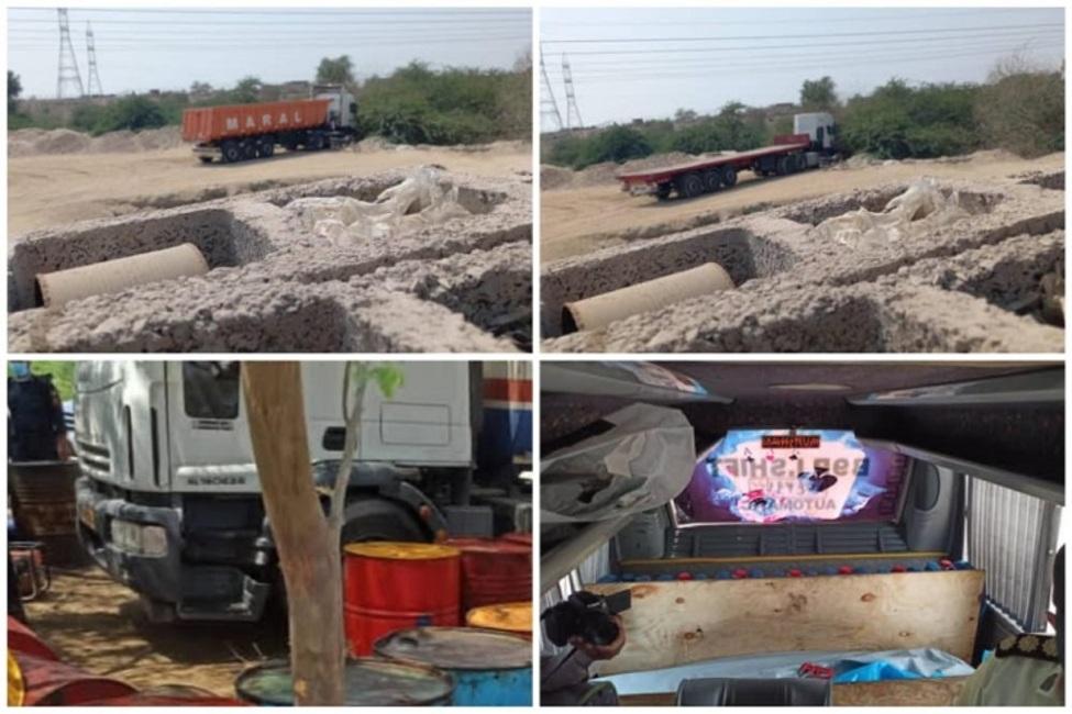 پایش تصویری کامیونهای حامل سوخت قاچاق از طریق دوربینهای کنترل نامحسوس در استان هرمزگان