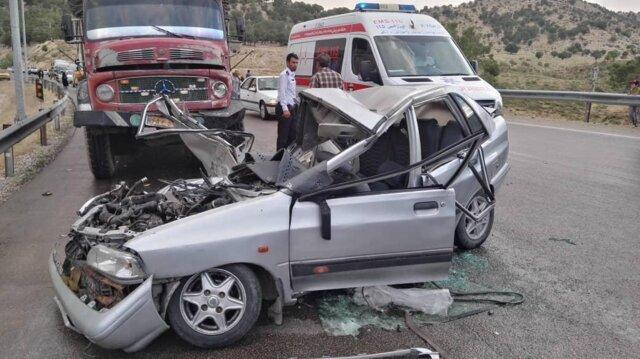 کاهش تلفات تصادفات در مرداد امسال
