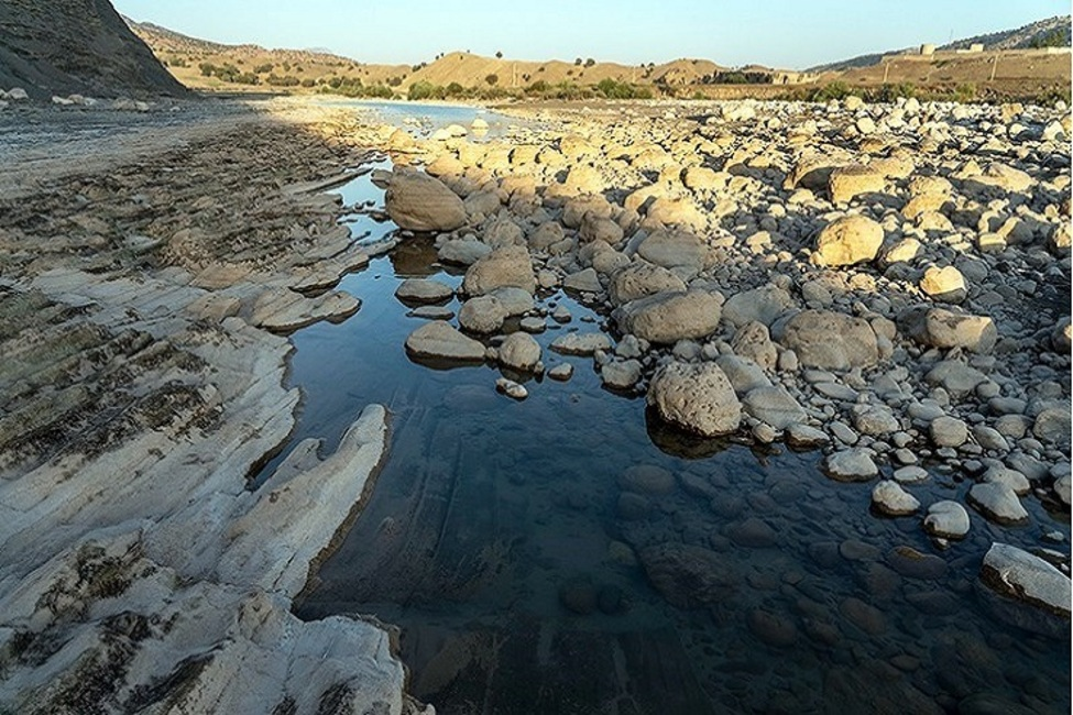 رودخانه کشکان لرستان سنددار شد
