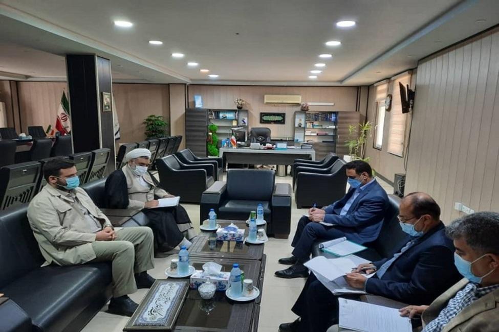 دیدار مدیرکل اوقاف و امور خیریه بوشهر با مدیرکل ثبت اسناد و املاک استان