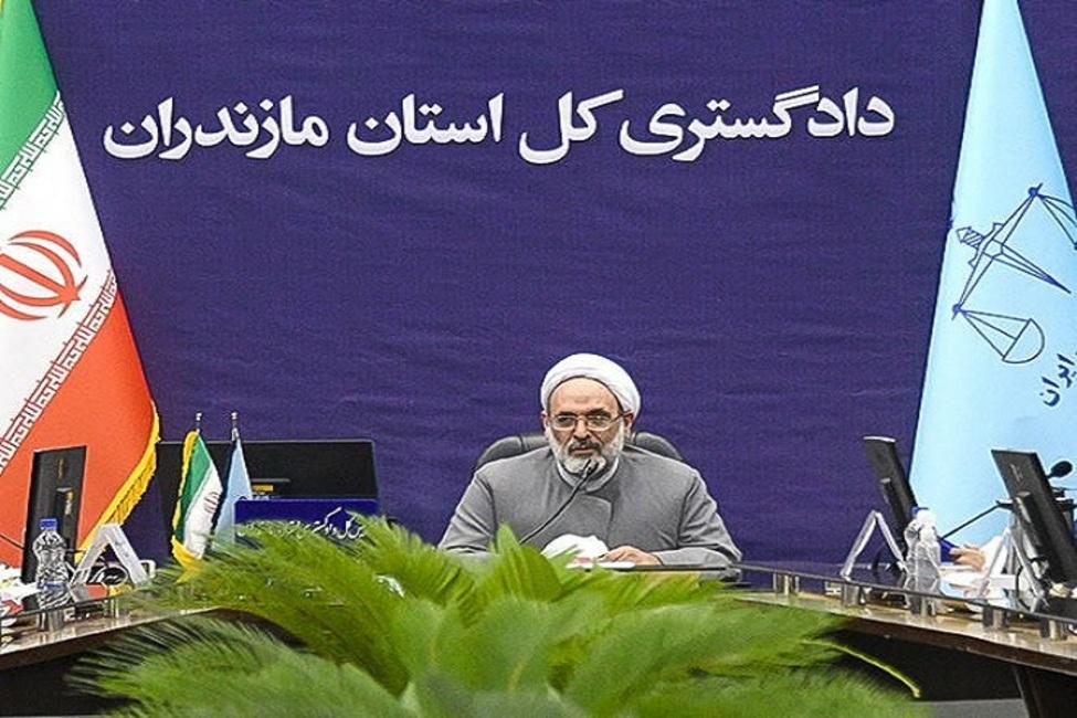 برگزاری بیش از ۸ هزار دادرسی الکترونیک با زندان در ۶ ماه نخست سال ۱۴۰۰ در استان مازندران